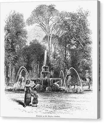 Rome: Borghese Gardens Canvas Print by Granger