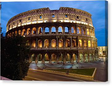 Rome Colosseum Dusk Canvas Print by Axiom Photographic