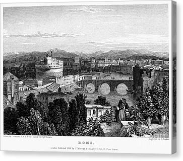 Rome: Scenic View, 1833 Canvas Print by Granger