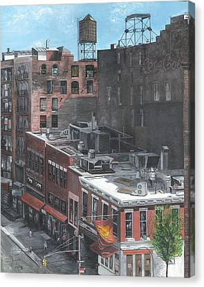 Roof Tops Ny Ny Canvas Print by Stuart B Yaeger