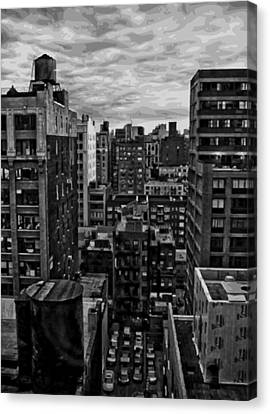 Rooftop Bw16 Canvas Print by Scott Kelley