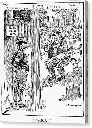 Roosevelt Cartoon, 1900s Canvas Print by Granger