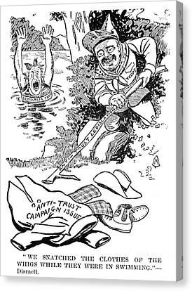 Roosevelt Cartoon, 1902 Canvas Print by Granger