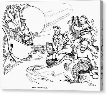 Roosevelt Cartoon, 1907 Canvas Print by Granger