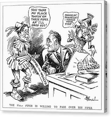Roosevelt Cartoon, 1934 Canvas Print by Granger