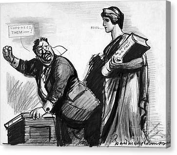 Roosevelt Cartoon, C1916 Canvas Print by Granger