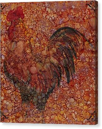 Rooster 4 Large Canvas Print by Rosie Phillips