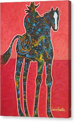 Arizona Contemporary Cowgirl Canvas Print - Rope One by Lance Headlee