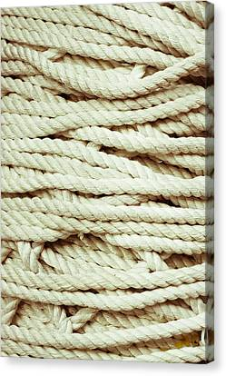 Untidy Canvas Print - Rope by Tom Gowanlock