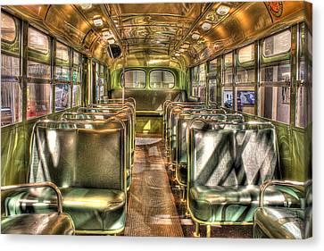 Rosa Parks Bus Inside Dearborn Mi Canvas Print by Nicholas  Grunas