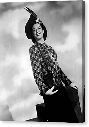 Rosalind Russell, Ca. Early 1940s Canvas Print by Everett