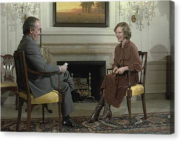Rosalynn Carter During A White House Canvas Print by Everett