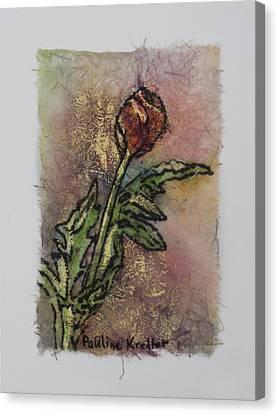 Rose Bud Canvas Print by Pauline  Kretler