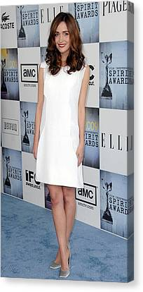 Rose Byrne Wearing A Calvin Klein Dress Canvas Print by Everett