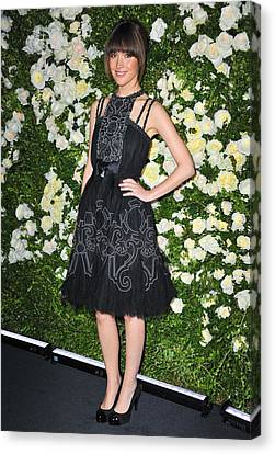 Rose Byrne Wearing A Chanel Dress Canvas Print by Everett