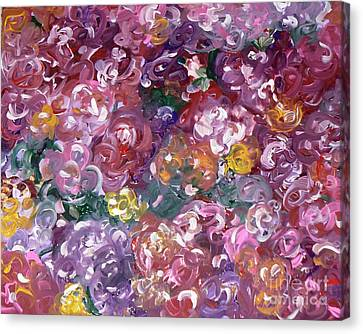 Canvas Print featuring the painting Rose Festival by Alys Caviness-Gober