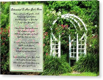Christian Poetry Canvas Print - Rose Garden by Carolyn Marshall