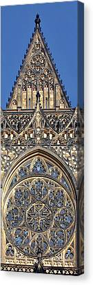 Rose Window - Exterior Of St Vitus Cathedral Prague Castle Canvas Print
