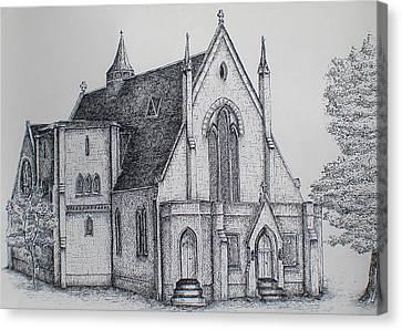 Rosemount Parish Church Canvas Print by Sheep McTavish