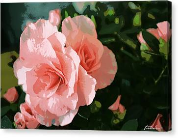 Roses Are Pink Canvas Print by Fern Korn