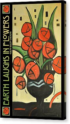 Roses In Vase Poster Canvas Print by Tim Nyberg