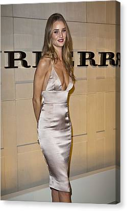 Rosie Huntington-whiteley At Arrivals Canvas Print by Everett