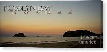 Canvas Print featuring the photograph Rosslyn Bay Sunset by Vicki Ferrari