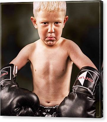 Round 1 Canvas Print by DMSprouse Art