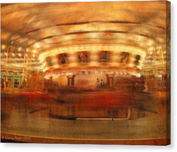 Round And Round Goes The Dentzel Carousel At Glen Echo Park Md Canvas Print
