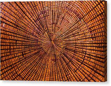 Round Barn Roof Canvas Print by David Waldo