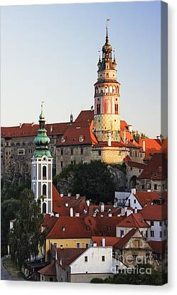 Round Tower At Cesky Krumlov Castle Canvas Print by Jeremy Woodhouse