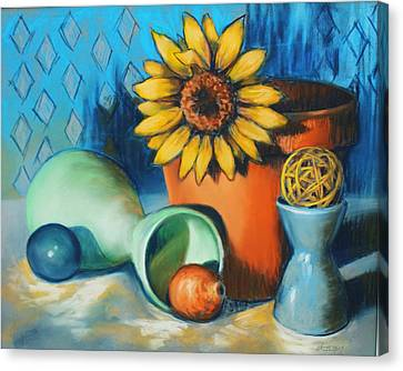 Rounds About Canvas Print by Peggy Wrobleski