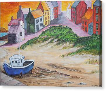 Roundstone Harbour  Canvas Print by Siobhan Lawson