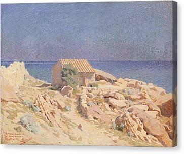 Windswept Canvas Print - Roussillon Landscape by Georges Daniel de Monfreid