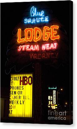 Route 66 Blue Spruce Gallup Canvas Print by Bob Christopher