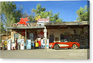Route 66 Hackberry Arizona Canvas Print by Bob Christopher