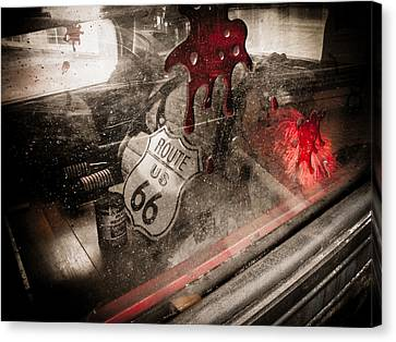 Horror Car Canvas Print - Route 66 by Jessica Brawley