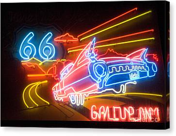 Route 66 Neon Gallup Nm Canvas Print by Bob Christopher