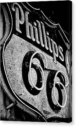 Route 66 Sign Black And White Canvas Print by Hideaki Sakurai