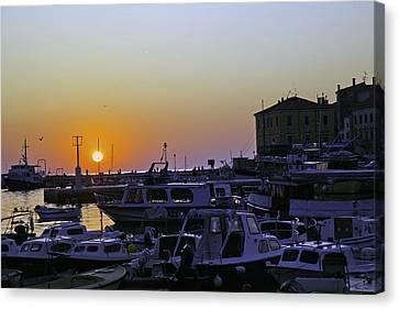 Rovinj Sunset Canvas Print by Madeline Ellis