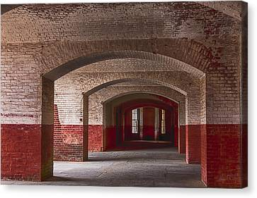 Glass Wall Canvas Print - Row Of Arches by Garry Gay