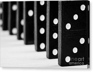 Row Of Dominoes Canvas Print by Joe Fox