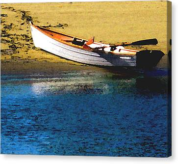 Rowboat At Mother's Beach Canvas Print by Timothy Bulone