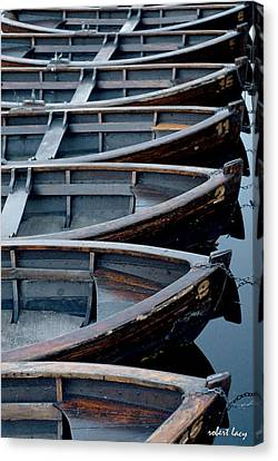 Rowboats Canvas Print by Robert Lacy