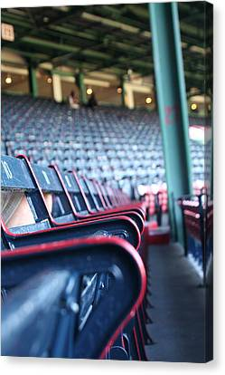 Rows Of Empty Field Box Seats At Fenway Boston Canvas Print by Loud Waterfall Photography Chelsea Sullens