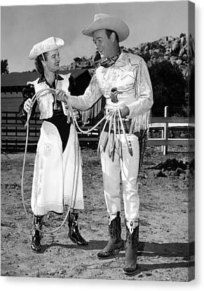 Roy Rogers Right, And His Wife Dale Canvas Print by Everett