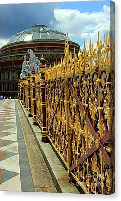 Royal Albert Hall And Golden Gate Canvas Print by Sophie Vigneault