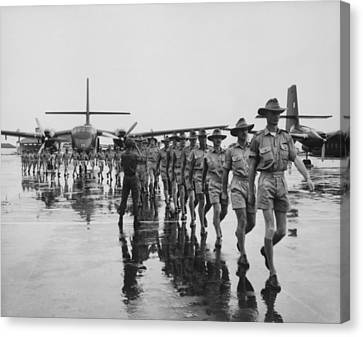 Royal Australian Air Force Arrives Canvas Print by Everett