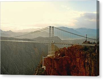 Royal Gorge Bridge Colorado - Take A Walk Across The Sky Canvas Print by Christine Till