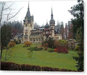 Royal Peles Castle Sinaia Romania Canvas Print by Mircea Veleanu